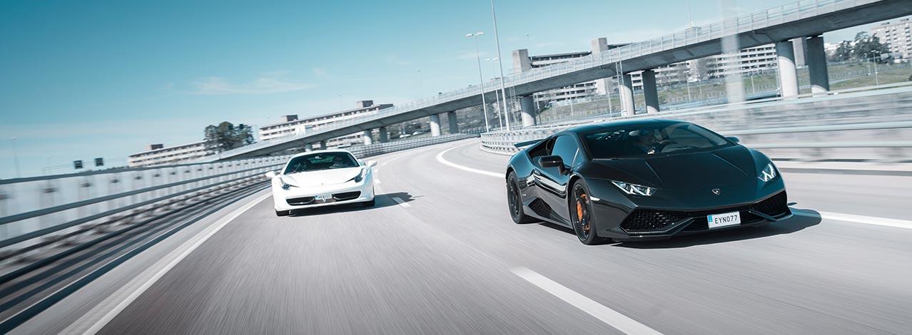 Kör två supersportbilar