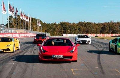 Bankörning Supersportbil - 4 varv