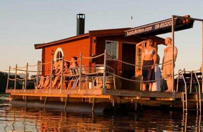 Bastuflotte - upp till 12 personer (inklusive badlakan & snacksbricka)