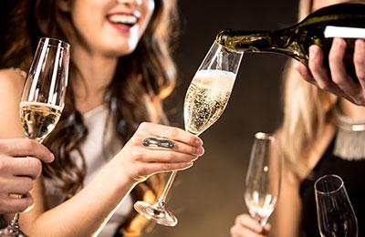 Exklusiv champagneprovning