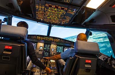 Flyg i flygsimulator Airbus A320