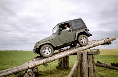 Terrängkörning Jeep