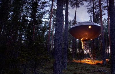The UFO - Treehotel för Två