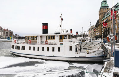 Vinterbåttur i Stockholm