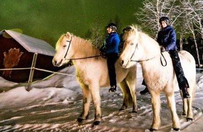 Norrskenstur till häst