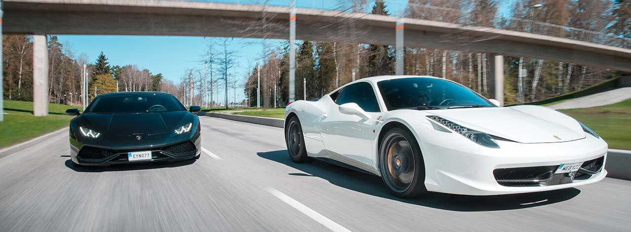 Produktbild för Kör Ferrari/Lamborghini (8 km) (1/1)