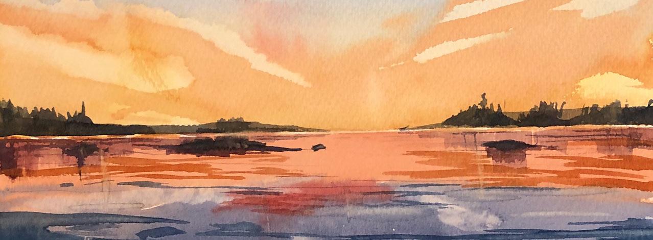 Produktbild för Akvarellmålning för nybörjare (kurs online) (1/1)