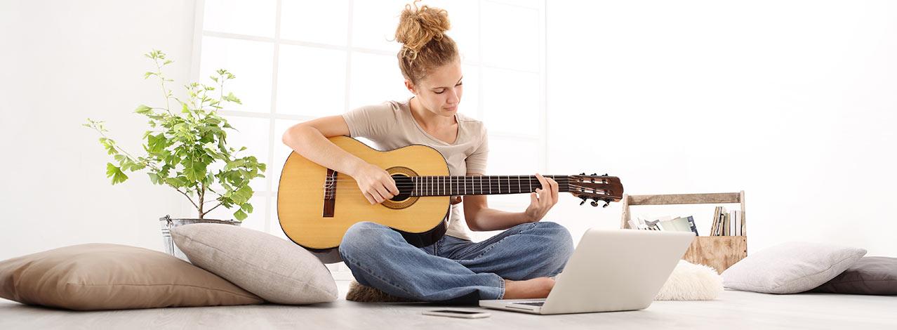 Produktbild för Gitarrlektion online (1/1)