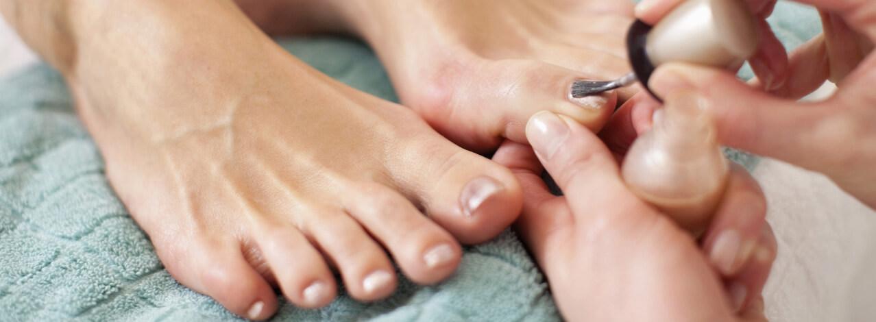 Fötter som fått pedikyr