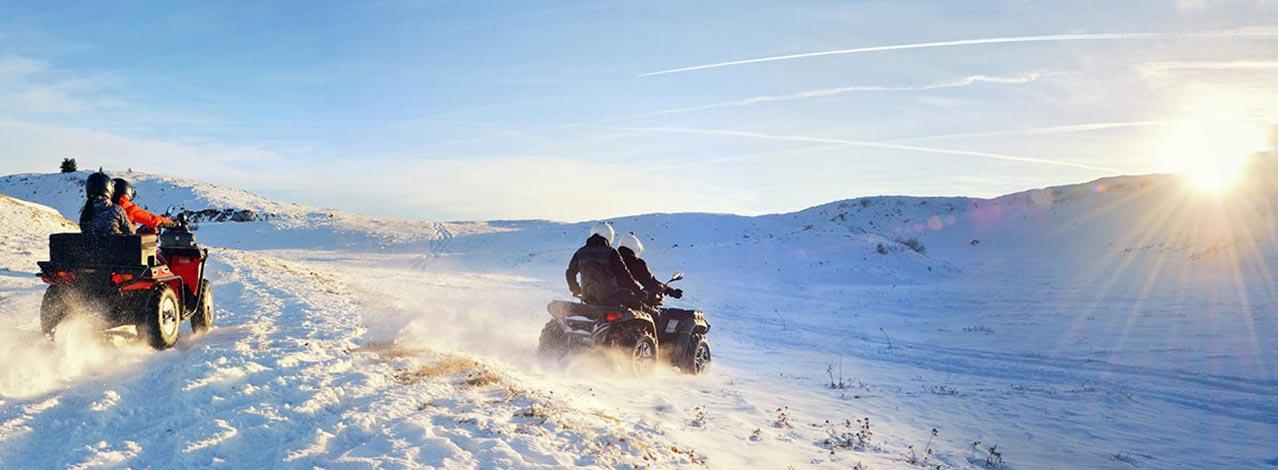 Produktbild för Kör fyrhjuling på vinterbana (1/1)